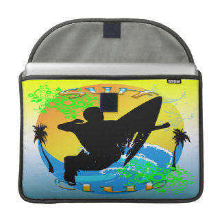 Surf Club - Surfer Macbook Pro Rickshaw Flap Sleev MacBook Pro Sleeve