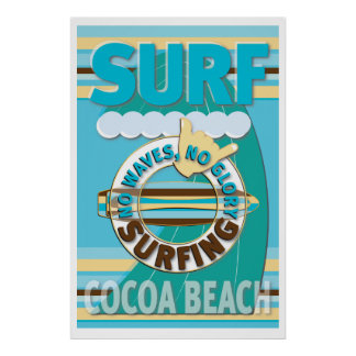 Surf Cocoa Beach Poster