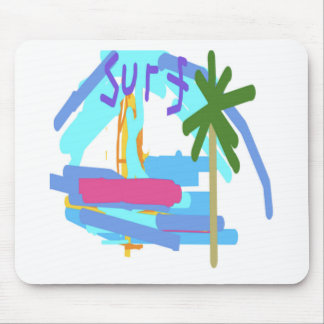 Surf Design by Carole Tomlinson Mouse Pad