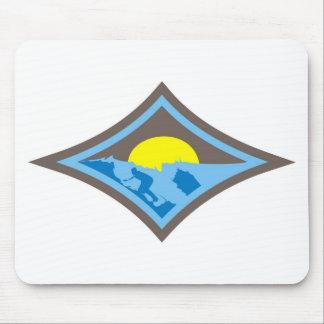 Surf diamond 3 mouse pad
