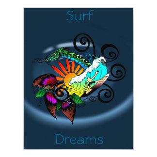 Surf Dreams H2O 11 Cm X 14 Cm Invitation Card
