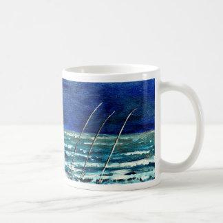 surf fishing saltwater fish acrylic painting coffee mug