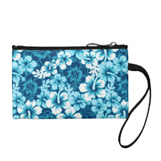 Surf floral hibiscus coin purse