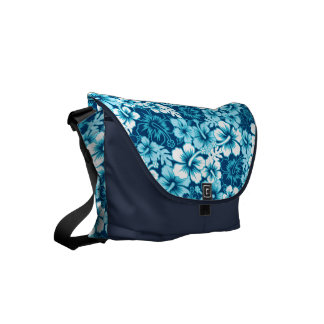 Surf floral hibiscus messenger bag