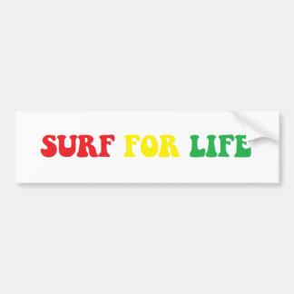 Surf for Life rasta sticker Bumper Sticker
