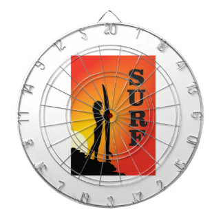 surf girl dartboard
