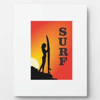 surf girl plaque