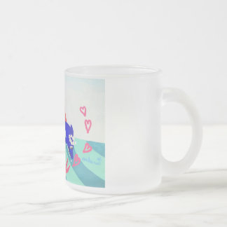 Surf girls frost glass magnetic cup