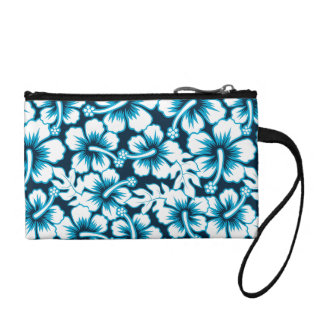 Surf graphic floral coin purse