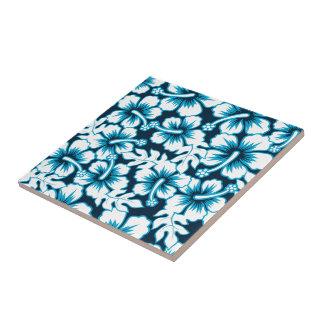 Surf graphic floral tile