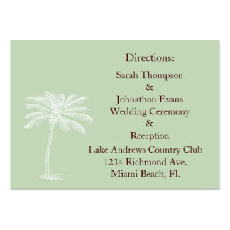 Surf Green Beach Getaway Direction Cards Pack Of Chubby Business Cards