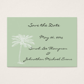 Surf Green Beach Getaway Mini Save The Date Cards