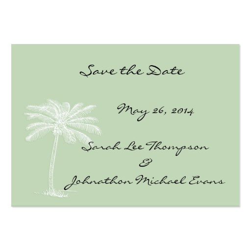Surf Green Beach Getaway Mini Save The Date Cards Business Card