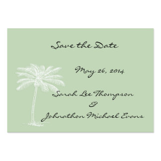 Surf Green Beach Getaway Mini Save The Date Cards Pack Of Chubby Business Cards