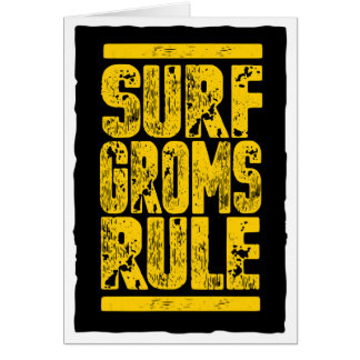 Surf Groms Rule!!! (yellow) Card