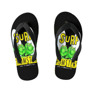 Surf Gromsters yellow Kid's Thongs