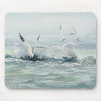 SURF GULLS & SEA by SHARON SHARPE Mouse Pads