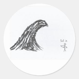 Surf it. classic round sticker