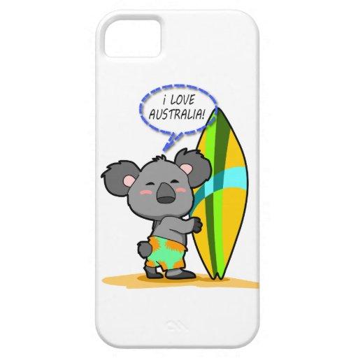 Surf Koala Bear iPhone Case iPhone 5 Case