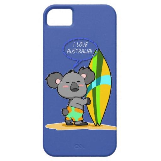 Surf Koala Bear iPhone Case iPhone 5 Covers