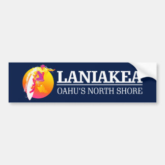 Surf Laniakea Bumper Sticker