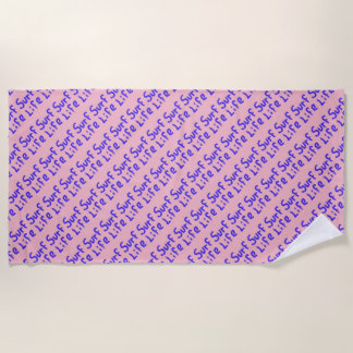 Surf life spray-painted blue  any color beach towel