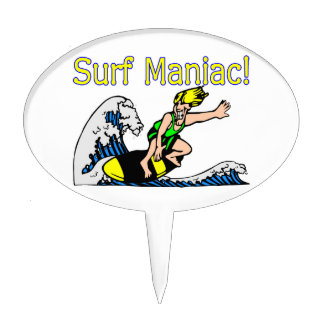 Surf Maniac Cake Toppers