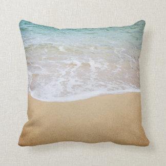 Surf Meets Sand Tropical Island Throw Pillow