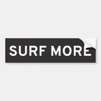 Surf More Bumper Sticker