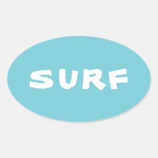 Surf Oval Sticker