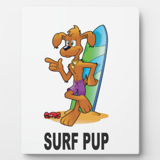 surf pup cartoon display plaques