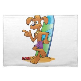 surf pup cartoon placemat