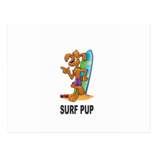 surf pup cartoon postcard
