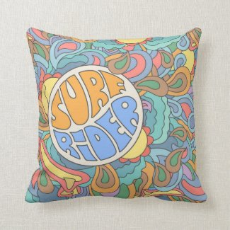 Surf Rider Pattern Cushion
