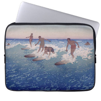 'Surf-Riders, Honolulu' - Charles W. Bartlett Laptop Sleeve
