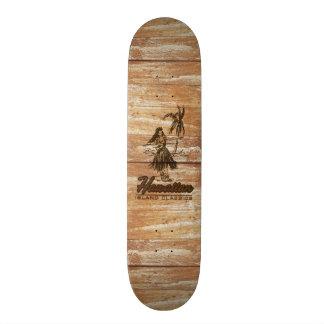 Surf Shack Hawaiian Faux Wood Skate Board Decks