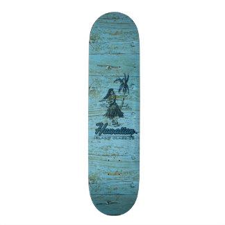 Surf Shack Hawaiian Faux Wood 21.3 Cm Mini Skateboard Deck
