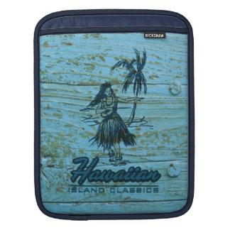 Surf Shack Hawaiian Faux Wood Sleeve For iPads
