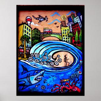 surf shack poster