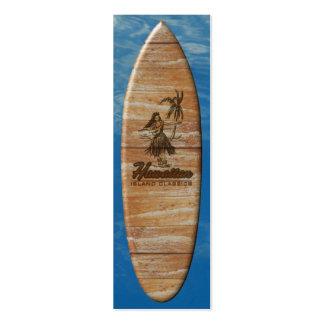 Surf Shack Surfboard Bookmark Business Card Templates