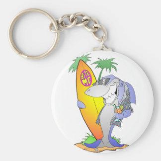 Surf Shark Key Ring