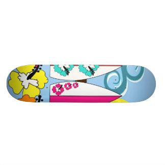 Surf Shop Surfing Ocean Beach Surfboards Palm Tree Skate Board