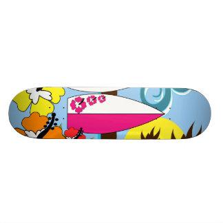Surf Shop Surfing Ocean Beach Surfboards Palm Tree Skate Board Decks