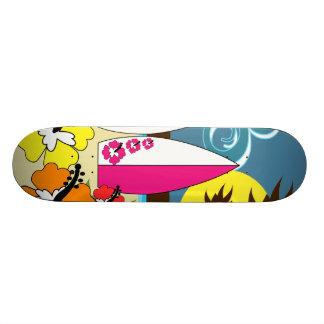 Surf Shop Surfing Ocean Beach Surfboards Palm Tree Custom Skateboard