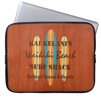 Surf Sign Customize Monogram Hawaiian Surfboards Laptop Sleeve