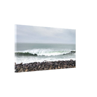 Surf Spray Ocean Wave Stretched Canvas Print