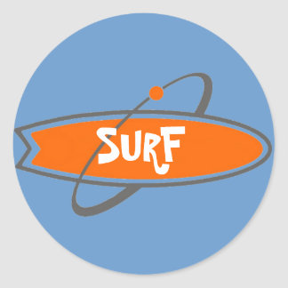SURF STICKY CLASSIC ROUND STICKER