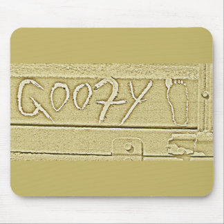 Surf surfboard Goofy foot surfing Gold yellow Mouse Pad