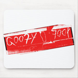 Surf surfboard goofy foot surfing Red white Mouse Pad