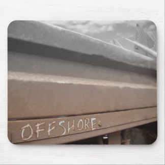 Surf surfboard offshore surfing Grey brown Mouse Pad